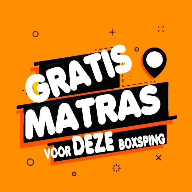 Boxspring met opbergruimte gratis matras